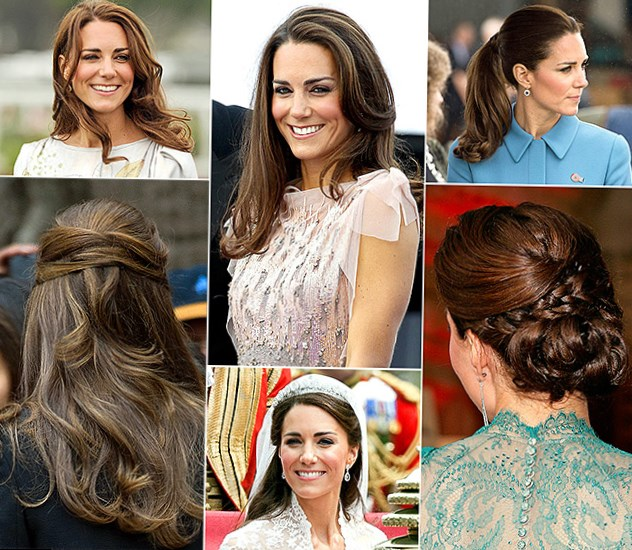Celebrity Kate Middleton Hair Changes Photos Video