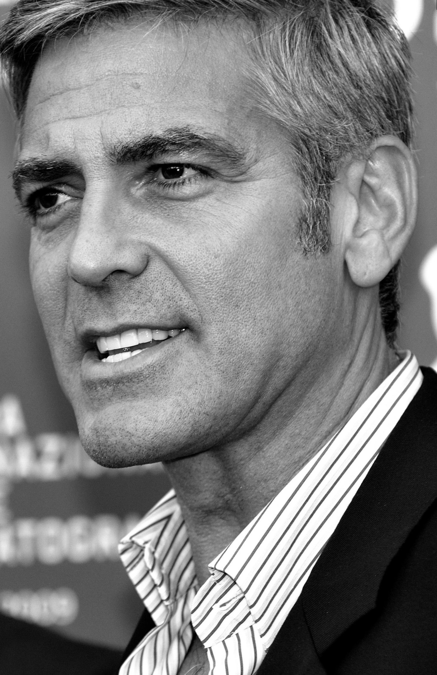 celebrity george clooney weight changes photos video. Black Bedroom Furniture Sets. Home Design Ideas