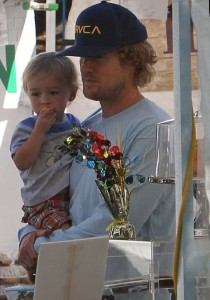 Owen Wilson with his older son Robert