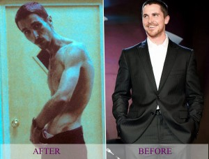 Christian Bale before and after weight loss