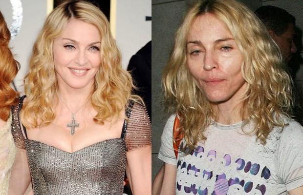 Madonna photo without makeup