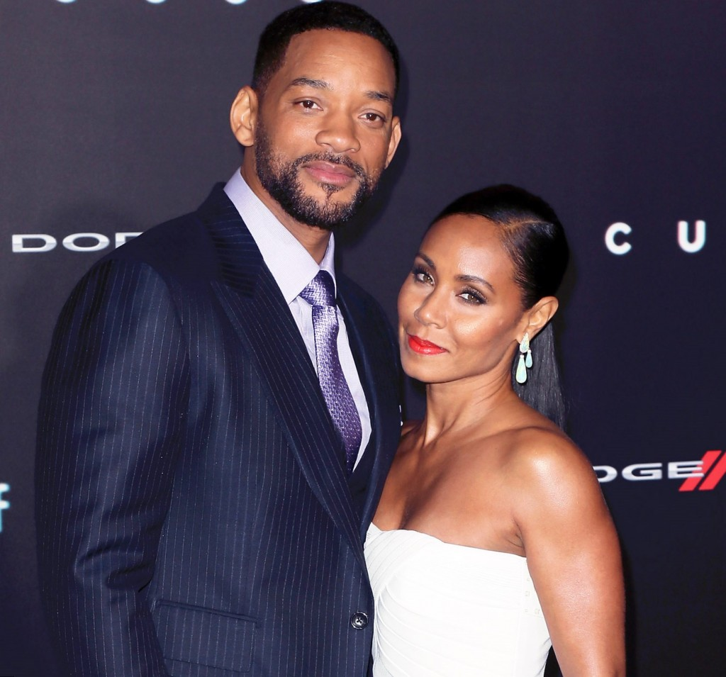 Will Smith with his wife