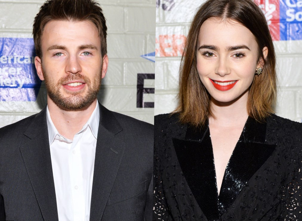 Chris Evans Lily Collins