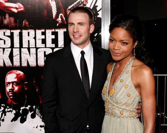 Chris Evans and Naomie Harris