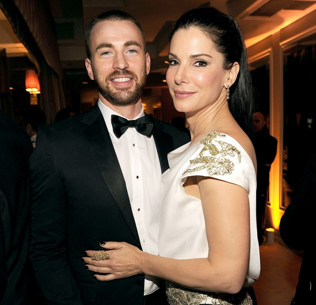 Chris Evans and Sandra Bullock