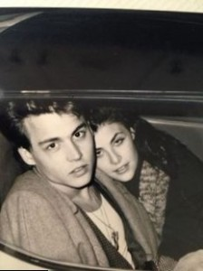 Johnny Depp and Sherilyn Fenn