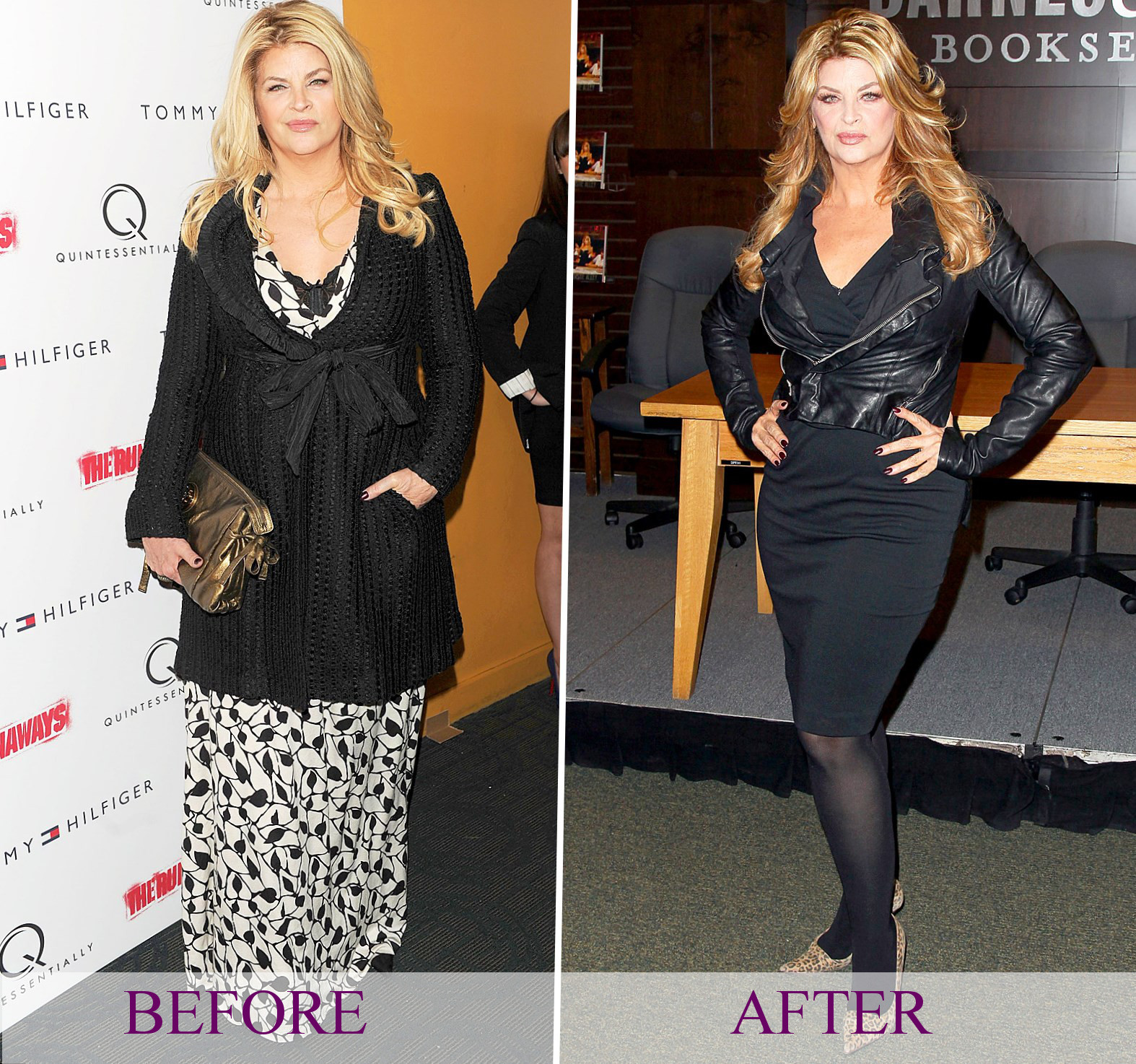 Celebrity Kirstie Alley - weight changes, photos, video
