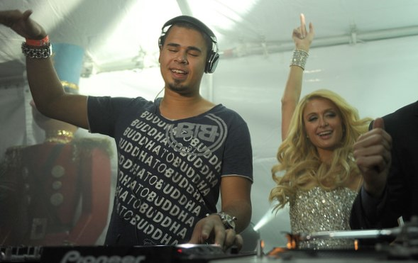 Paris Hilton with DJ Afrojack