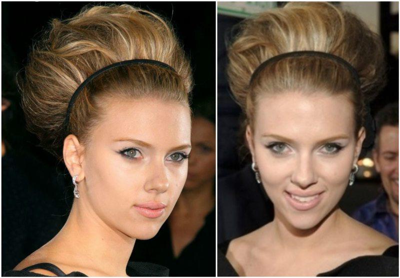 Scarlett Johansson`s hairsdos