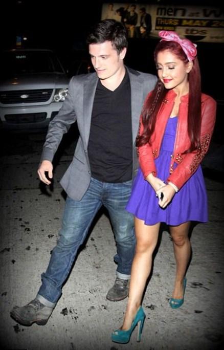 Josh Hutcherson and Ariana Grande