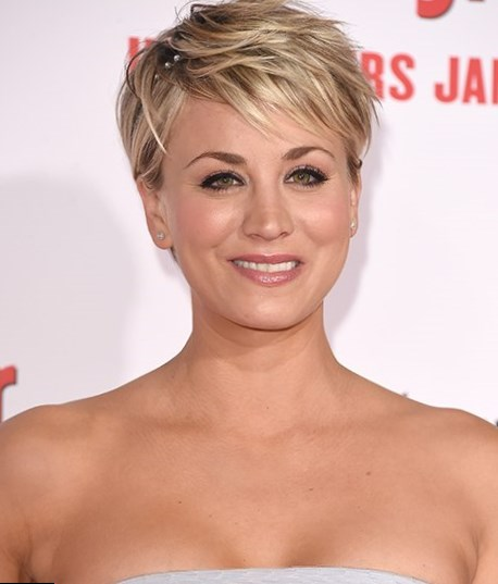 Celebrity Kaley Cuoco Hair Changes Photos Video