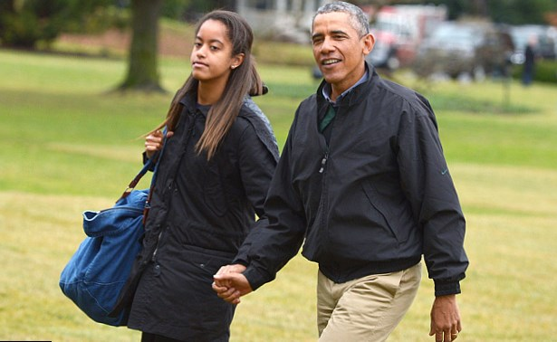 What President Obama Said to Malia and Sasha About the Election Will Make You Cry photo