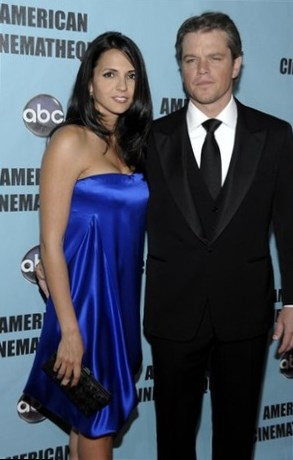 Matt Damon and Luciana Barroso-Damon