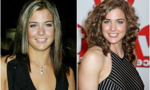 Gemma Atkinson`s eyes and hair color