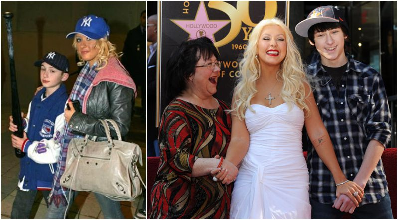 Christina Aguilera family - mother and half-brother Michael Kearns