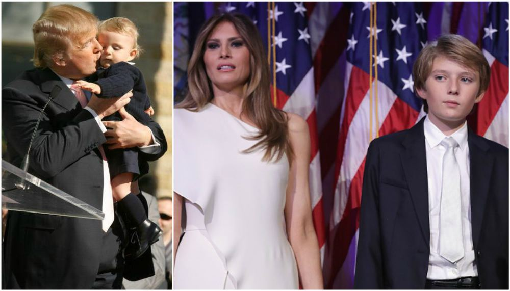 Donald Trump`s family - children Barron Trump