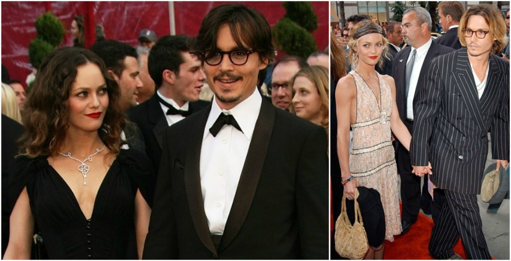 Johnny Depp and his longterm partner Vanessa Paradis
