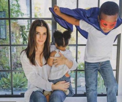 Sandra bullock and jesse james kids