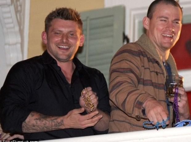 Channing Tatum and male friend having fun