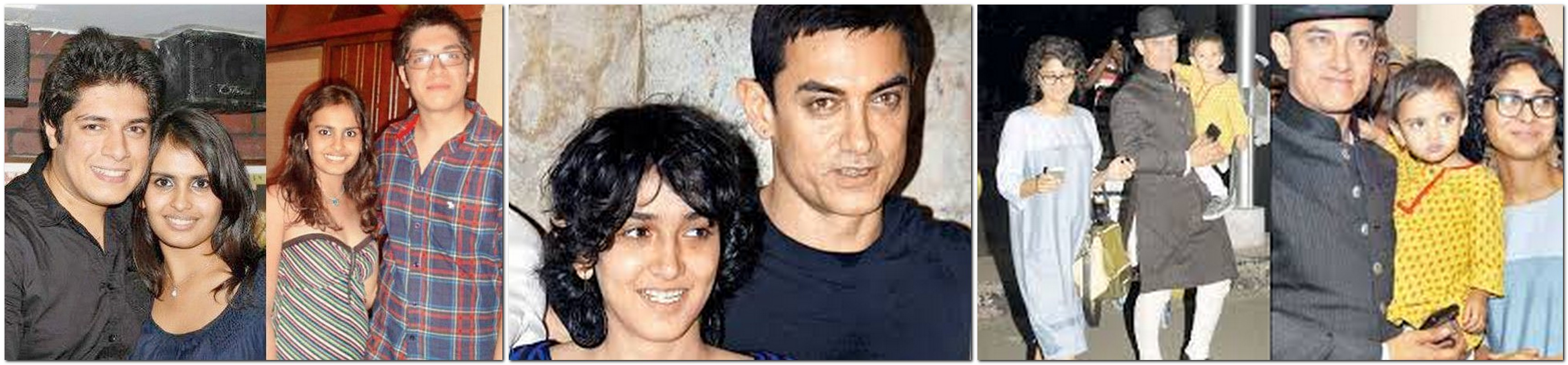 Junaid Khan (son with Reena Dutta) Ira Khan (daughter with Reena Dutta) Azad Rao Khan (son with Kiran Rao)