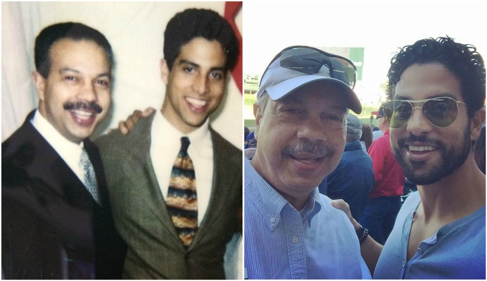 Adam Rodriguez with his father Ramon Rodriguez