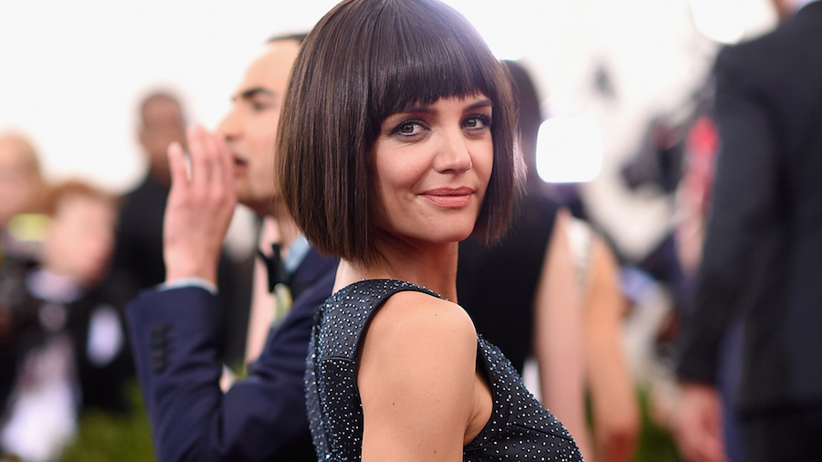 katie holmes hair changes