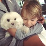 Alessandra Ambrosio and her good friend – dog Lola