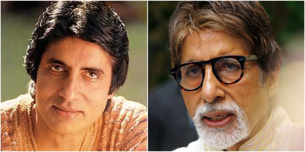 Amitabh Bachchan young and old