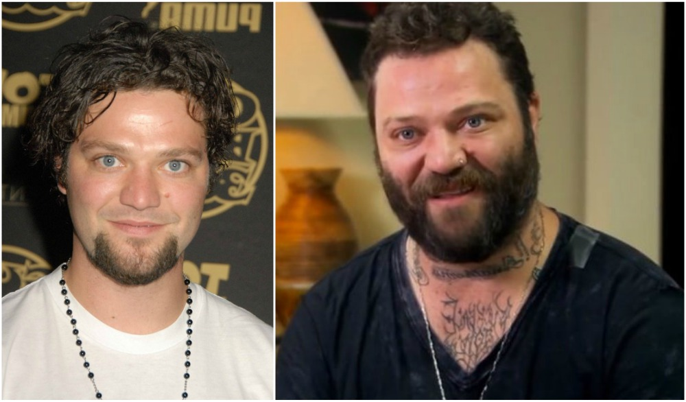 Bam Margera`s eyes and hair color