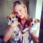 Candice Swanepoel loves the breed – Jack Russell terrier