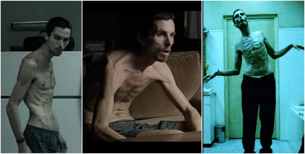 Christian Bale body transformation in The Machinist, 2004