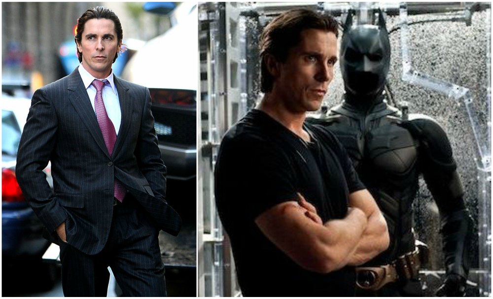 Christian Bale`s body shape in The Dark Knight, 2008