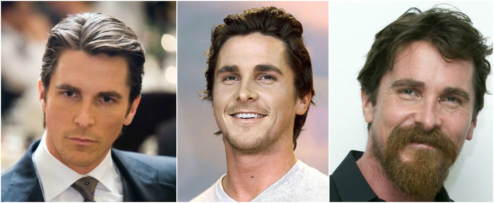 Christian Bale`s eyes and hair color