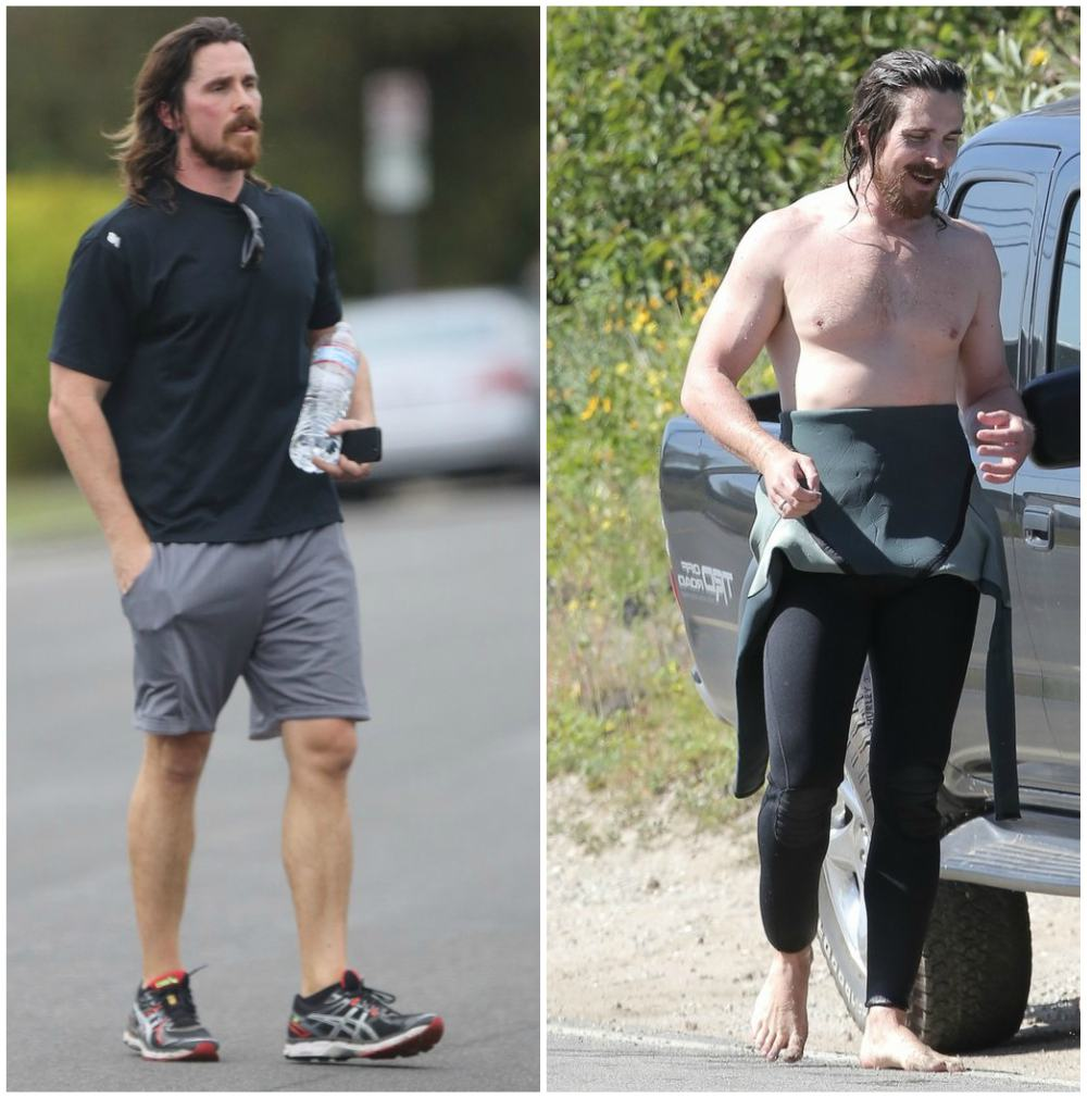 Christian Bale`s body shape in 2016