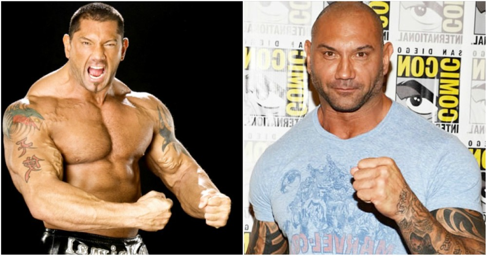 Dave Batista eyes and hair color