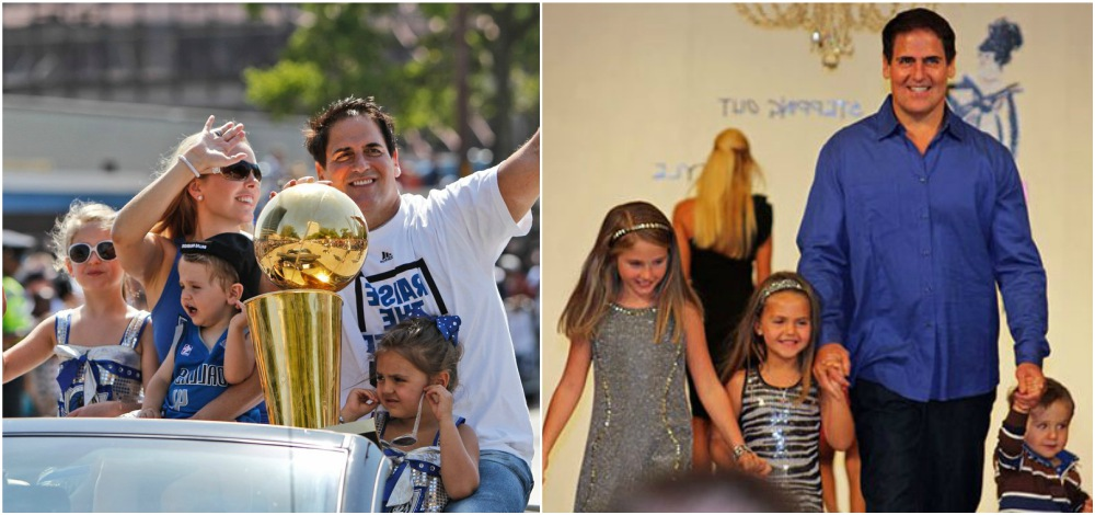 Mark Cuban with his family