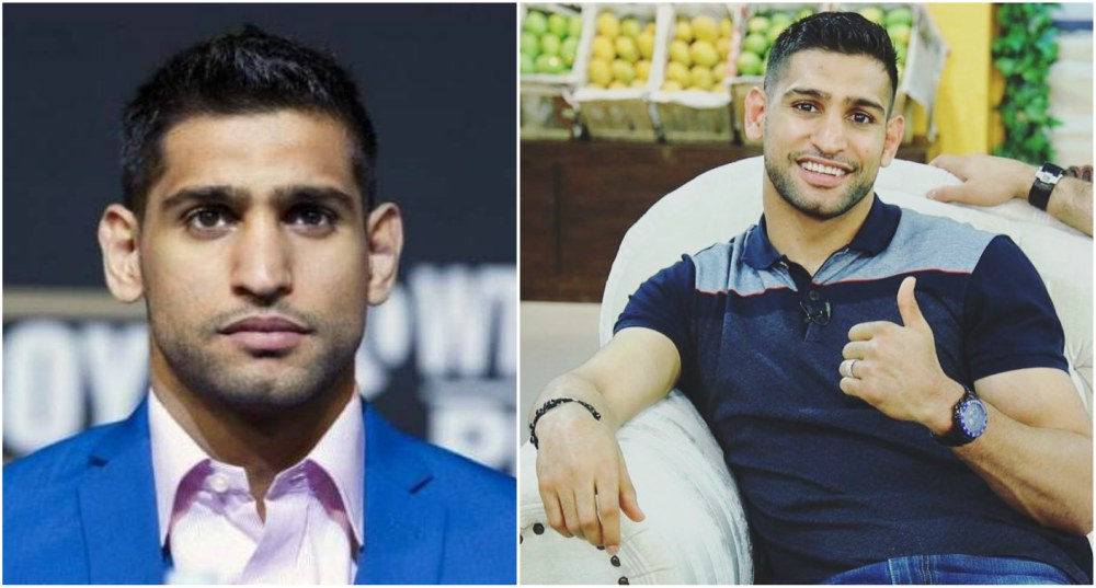 Boxer Amir Khan`s eyes and hair color