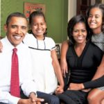 Barack Obama has a big friendly family