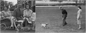 Princess Elizabeth (now Queen) with her first dog Susan
