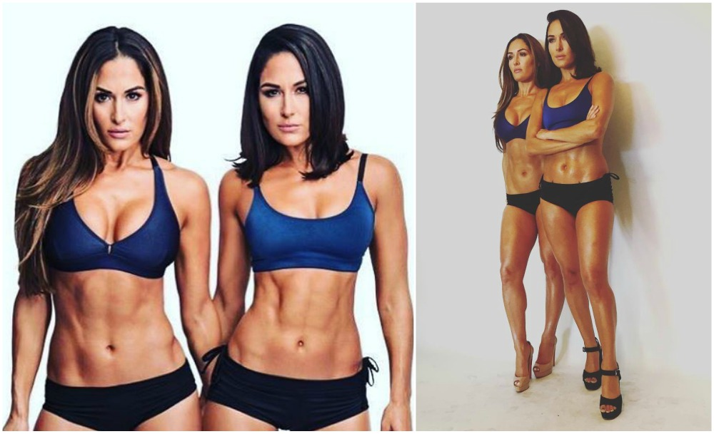 Bella Twins height, weigh and age. Opposite views on their