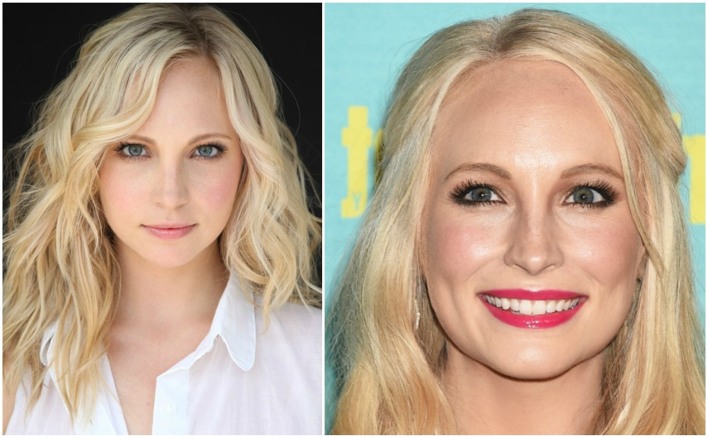 Candice Accola`s eyes and hair color