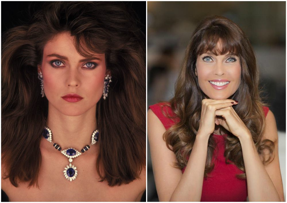 Carol Alt`s eyes and hair color