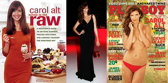 Carol Alt talking about raw eating