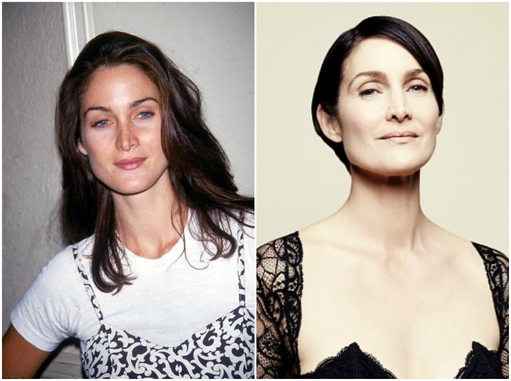 Carrie-Anne Moss eyes and hair color
