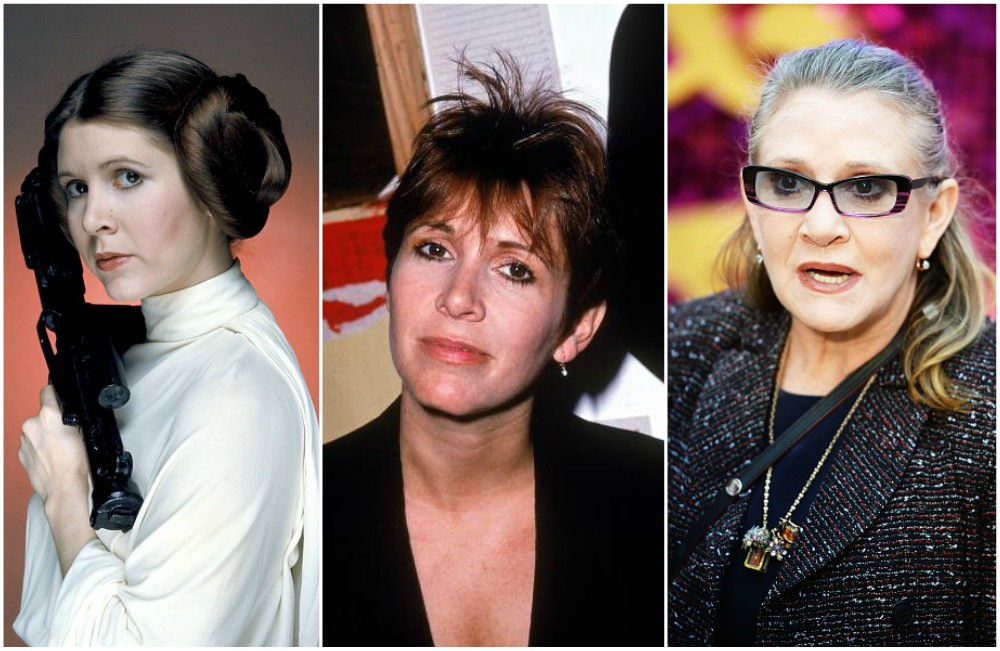 Carrie Fisher`s eyes and hair color