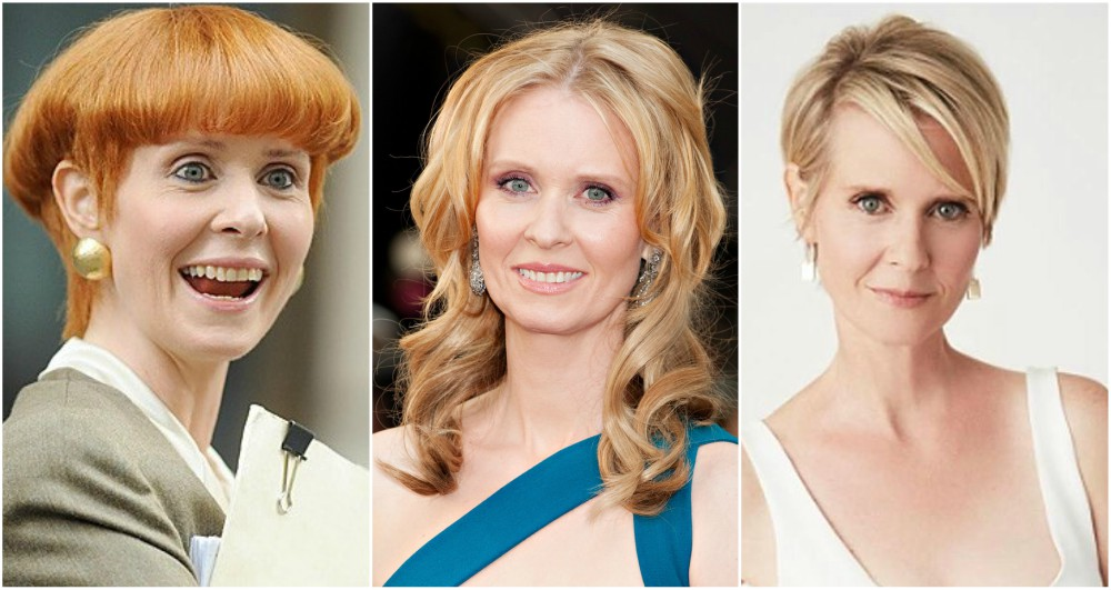 Cynthia Nixon`s eyes and hair color