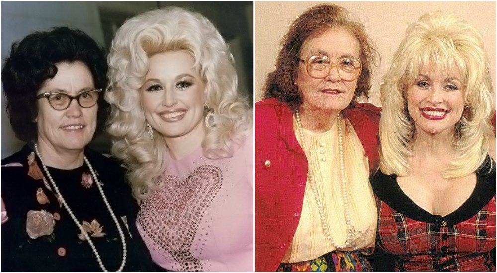 Dolly Parton with her mother - Avie Lee Parton