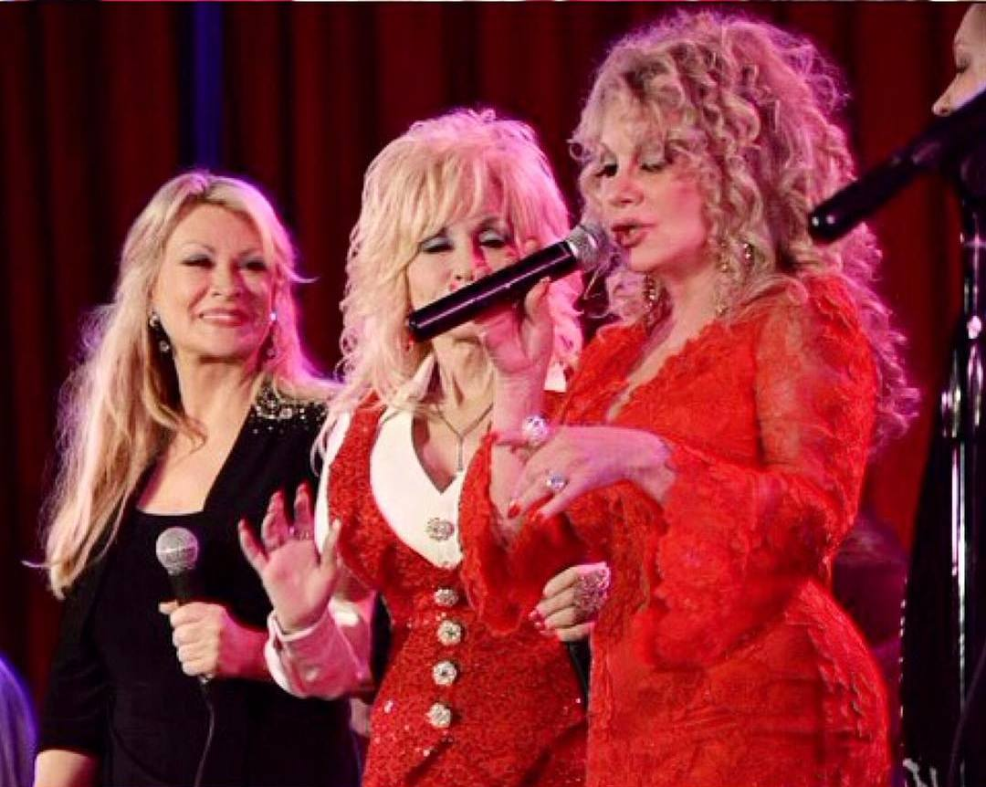 Dolly Parton`s sisters Rachel and Stella