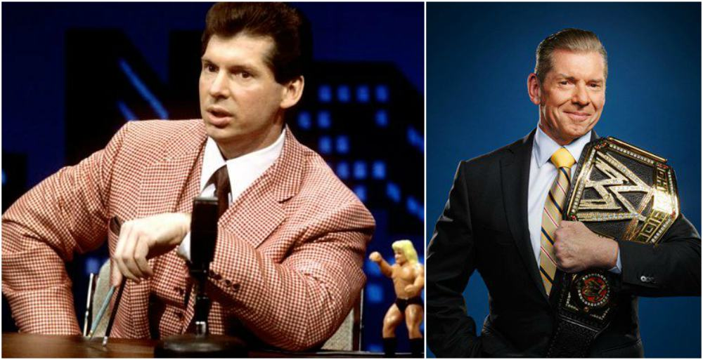 Vince McMahon`s eyes and hair color