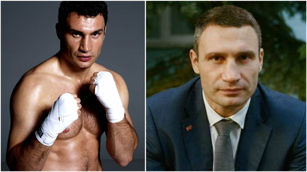Vitali Klitschko`s eyes and hair color